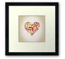 Arrows in heart Framed Print