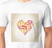 Arrows in heart Unisex T-Shirt
