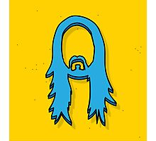 STEVE AOKI BLUE FACE TWO COLOR Photographic Print