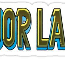 MAJOR LAZER BASIC FONT Sticker