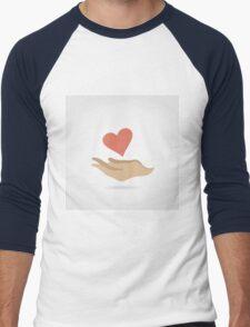 Heart in a hand3 Men's Baseball ¾ T-Shirt