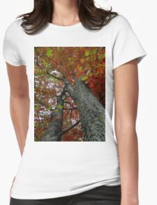 Locked in the darkened world..Made to never last..That's where the dreams you seek are like stories from the past..The leaves will be falling fast Womens Fitted T-Shirt