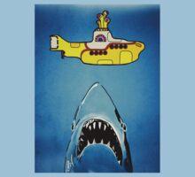 Jaws-Yellow Submarine  Kids Tee