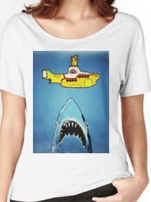 Jaws-Yellow Submarine  Women's Relaxed Fit T-Shirt