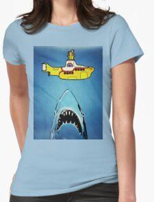 Jaws-Yellow Submarine  Womens Fitted T-Shirt