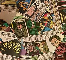 Mashing of Horror Comic Pages  by Gottley75