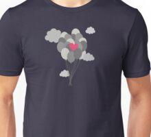 heart balloon between gray ballons  Unisex T-Shirt