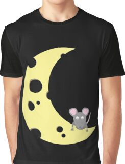 mouse on the cheese moon  Graphic T-Shirt