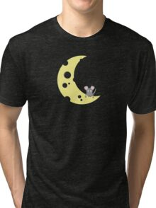 mouse on the cheese moon  Tri-blend T-Shirt