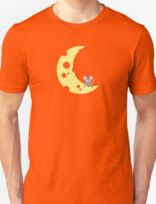 mouse on the cheese moon  Unisex T-Shirt