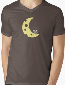 mouse on the cheese moon  Mens V-Neck T-Shirt