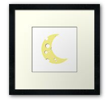 moon from cheese  Framed Print