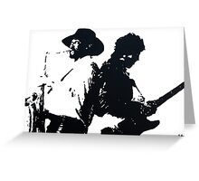 Bruce Springsteen and Clarence Clemmons Greeting Card