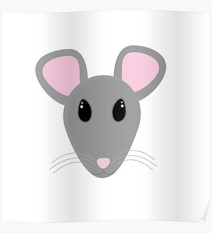 sweet gray mouse face  Poster