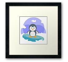 Freezing in the iceberg Framed Print