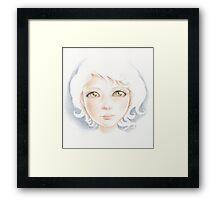 pale sketch Framed Print