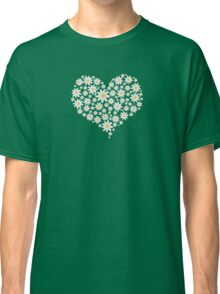 Heart of white flowers  Classic T-Shirt