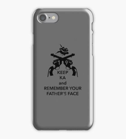 Keep KA - black edition iPhone Case/Skin