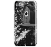 Blue Bird House - B&W iPhone Case/Skin