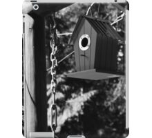 Blue Bird House - B&W iPad Case/Skin