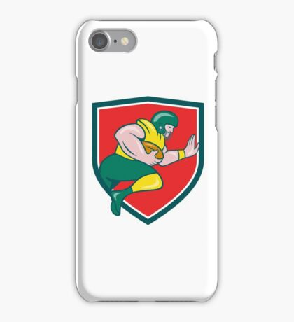 American Football Running Back Charging Crest Cartoon iPhone Case/Skin