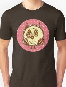 Funny owl pink polka dot T-Shirt