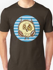 Funny owl blue and brown T-Shirt