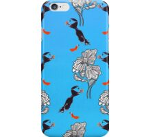 Puffin Flowers iPhone Case/Skin