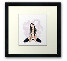 Sexy Asian Dragon Framed Print