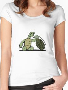 Turtle and Bombs Women's Fitted Scoop T-Shirt