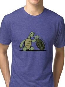Turtle and Bombs Tri-blend T-Shirt