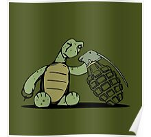 Turtle and Bombs Poster