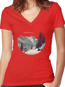 Pause Women's Fitted V-Neck T-Shirt