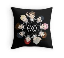exo cartoon 1 Throw Pillow
