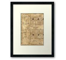 Marauder's Map, Footsteps Framed Print