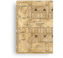 Marauder's Map, Footsteps Canvas Print