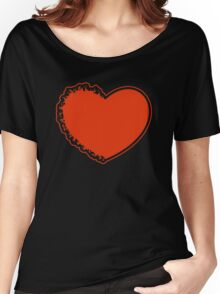 Red burning heart Women's Relaxed Fit T-Shirt