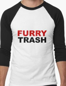 Furry TRASH Men's Baseball ¾ T-Shirt