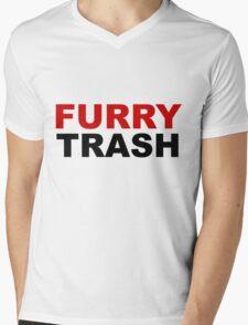 Furry TRASH Mens V-Neck T-Shirt