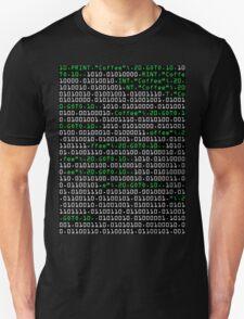 "10 PRINT ""Coffee"" T-Shirt"