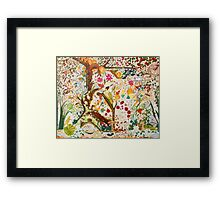 Jacobean Fantasy Forest Framed Print