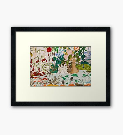 Duck and Lilly Framed Print