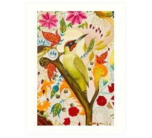 Green Woodpecker Art Print
