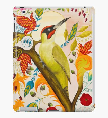 Green Woodpecker iPad Case/Skin