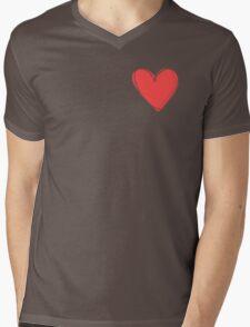 My Valentine Heart Mens V-Neck T-Shirt