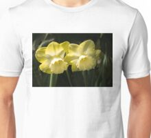 Sunny Pair - Glowing Mellow Yellow Narcissus Blooms Unisex T-Shirt