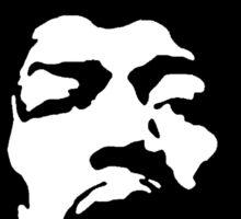 Jimi Hendrix - Black and White Sticker