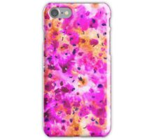 Modern neon pink yellow abstract floral watercolor iPhone Case/Skin