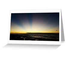 Sunset over the sea in Tenerife Greeting Card