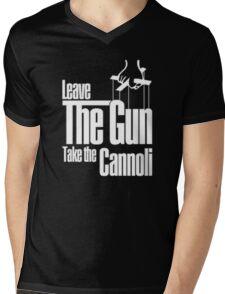 Leave the gun take the cannoli Mens V-Neck T-Shirt